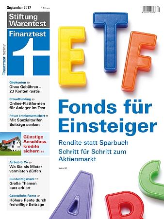 Cover Finanztest 9/2017 (Bild: Finanztest)