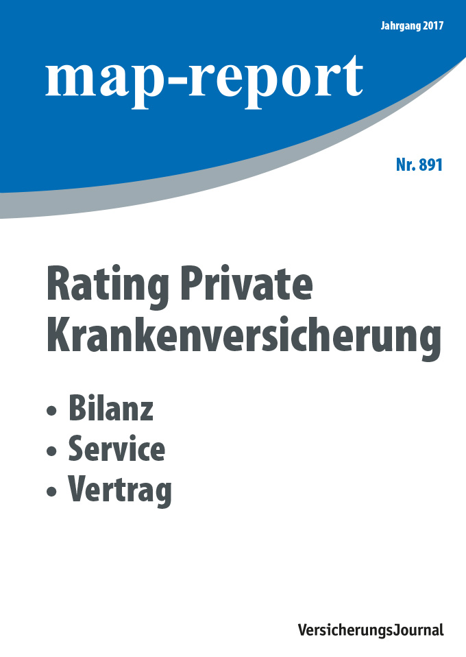 Map-Report 891 - Rating Private Krankenversicherung