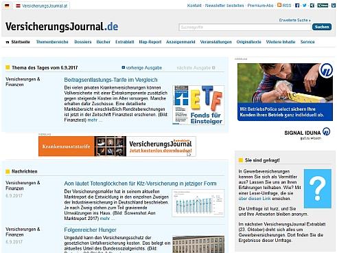 VersicherungsJournal Startseite
