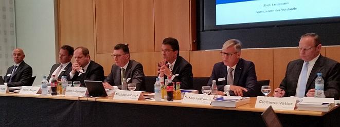 Der Vorstand der Signal Iduna bei der Bilanzpressekonferenz (Bild: Meyer)