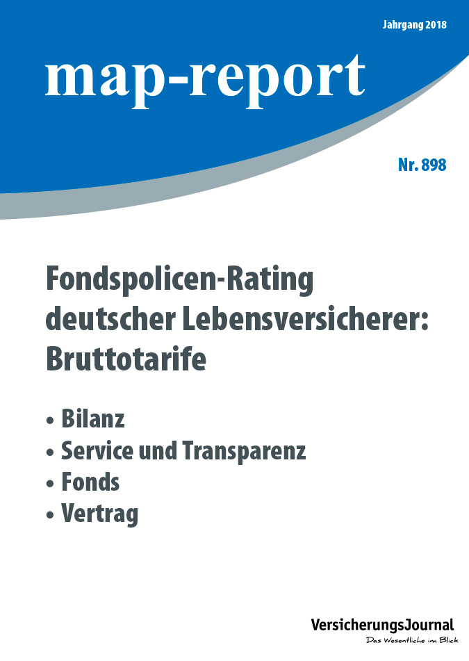 Map-Report 898 - Fondspolicen-Rating deutscher Lebensversicherer: Bruttotarife