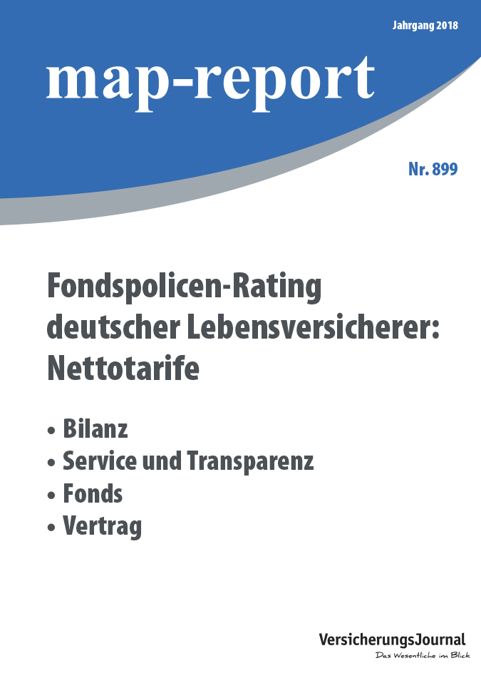 Map-Report 899 - Fondspolicen-Rating deutscher Lebensversicherer: Nettotarife