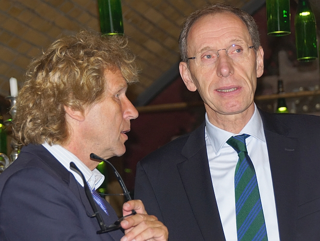 Bernd Raffelhüschen (li.) und Hubertus Pellengahr (Bild: Brüss)