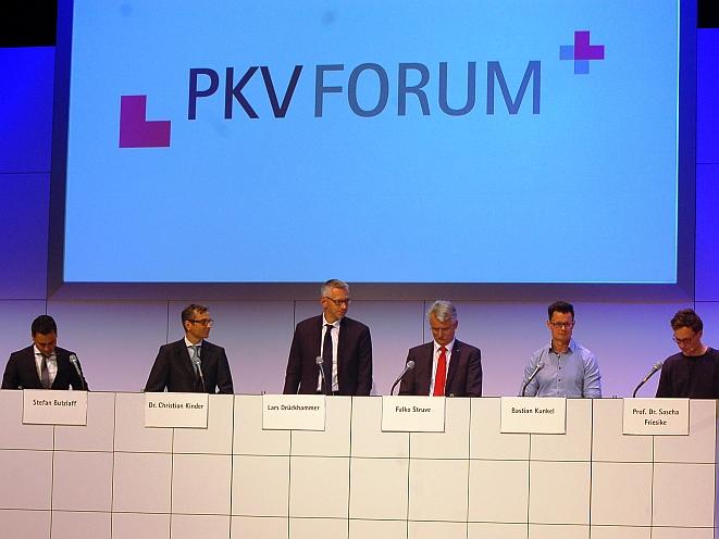 Podiumsdiskussion beim PKV-Forum (Bild: Lier)