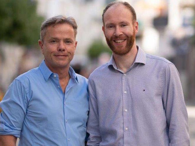 Timepay-Team (von links): Geschäftsführer Michael D. Basler und Technikchef Stephan Wirth (Bild Timepay)