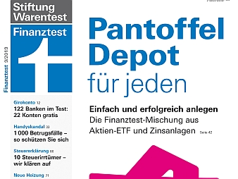 Finanztest 9/2019 (Bild: Stiftung Warentest)