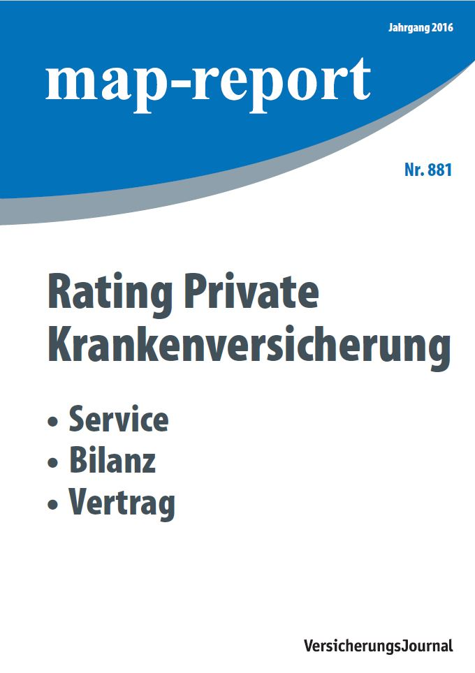 Map-Report 881 - Rating Private Krankenversicherung