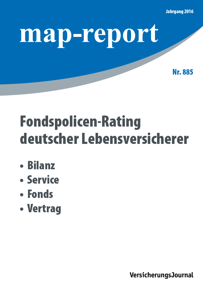 Map-Report 885 - Fondspolicen Rating deutscher Lebensversicherer
