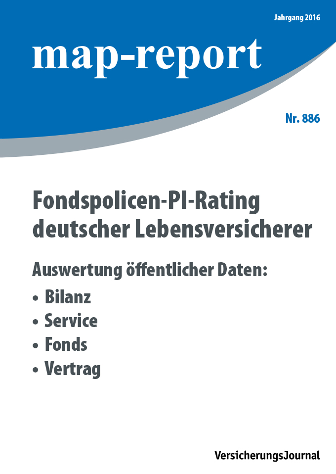 Map-Report 886 - Fondspolicen-PI-Rating deutscher Lebensversicherer