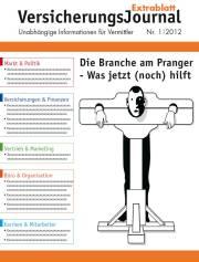 Cover VersicherungsJournal Extrablatt 1/2012