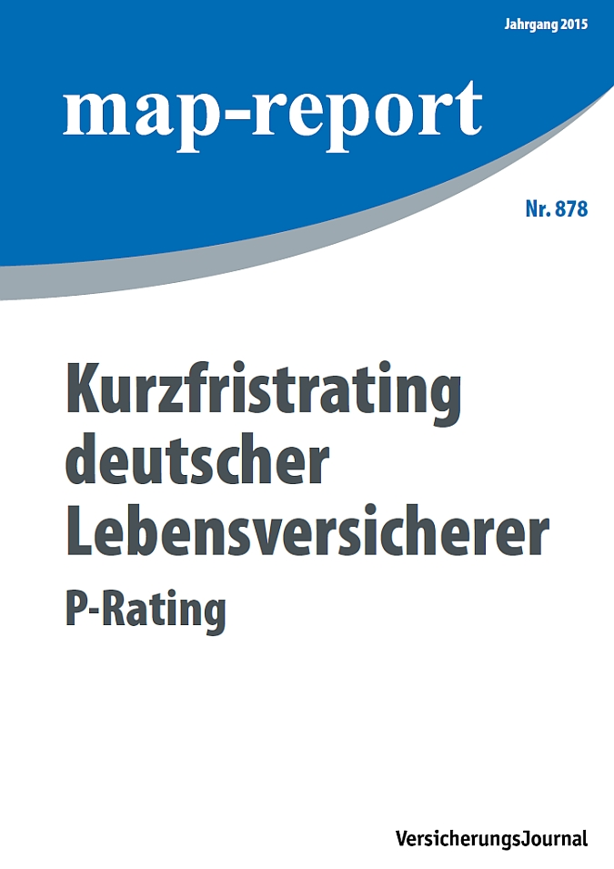 Map-Report 878 - Kurzfristrating deutscher Lebensversicherer - P-Rating