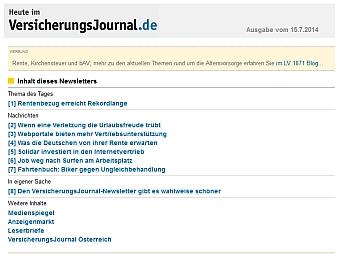 Versicherungsjournal Newsletter