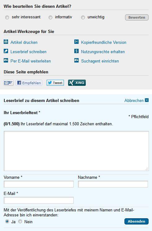 Leserbrief-Werkzeugkasten (Bild: Screenshot VersicherungsJournal.de)