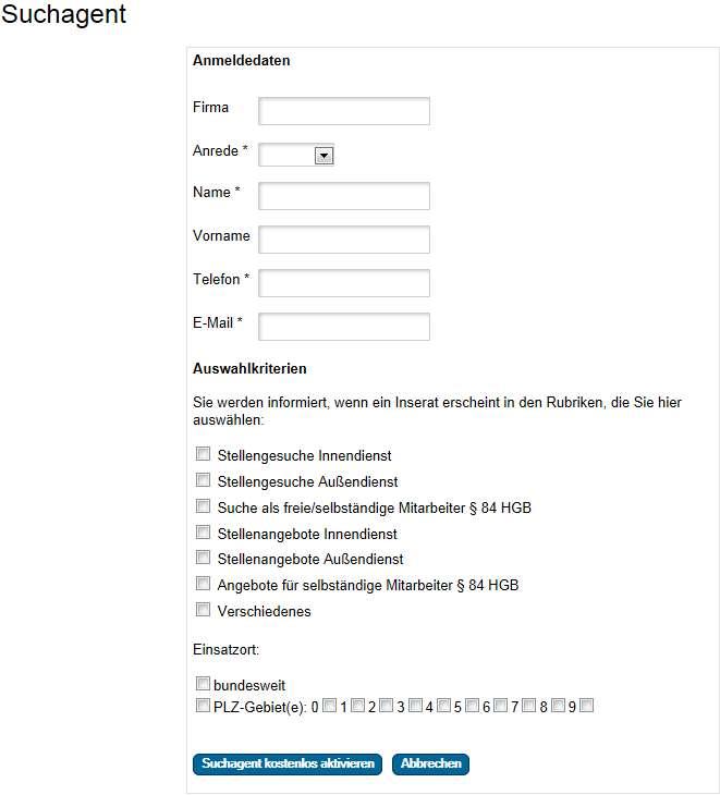 Screenshot Suchagent VersicherungsJournal