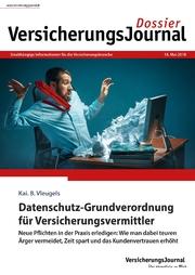 VersicherungsJournal-Dossier Datenschutz-Grundverordnung für Vermittler