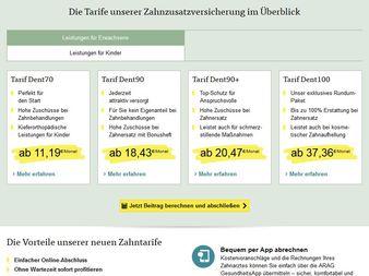 Bild: Screenshot Arag.de