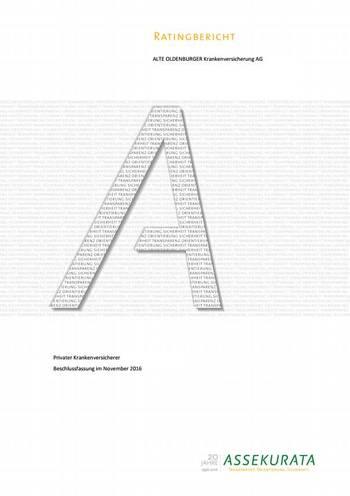 Cover Rating-Bericht Alte Oldenburger (Bild: Assekurata)