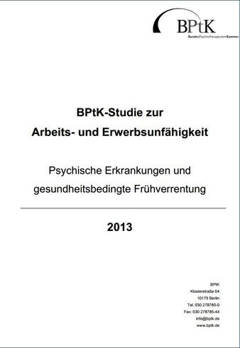 Cover Studie Psychische Erkrankungen und gesundheitsbedingte Frühverrentung