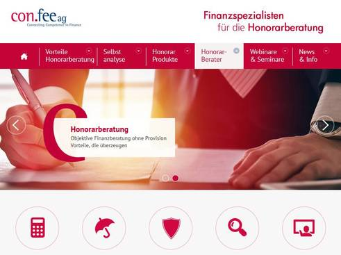 Bild: Screenshot Honorarberatung.Confee.de