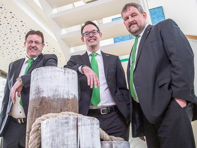 Arend Arends, Henning Bernau und Holger Keck (v.li.) (Bild: deVincent)