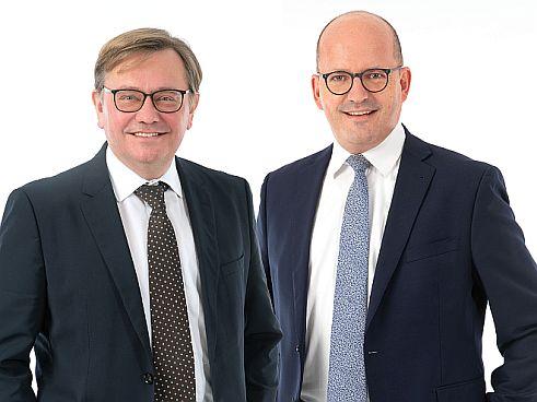 Alfred Mathy (li.) und Wolfgang Riecke (re.) (Bild: SHB)