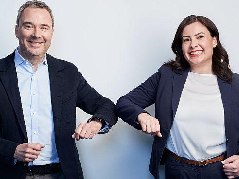 Christopher Lohmann und Raha Anssari (Bild: Talanx)