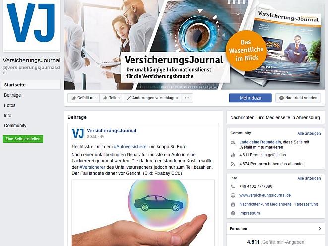 Bild: Screenshot Facebook.com/versicherungsjournal.de