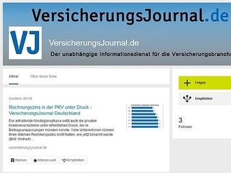 Das VersicherungsJournal bei Xing (Screenshot: Meyer)
