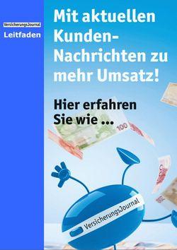 Leitfaden Verbraucher-Pressedienst (Bild: VersicherungsJournal)