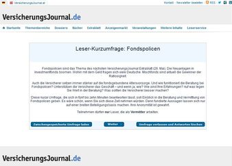 Bild: Screenshot VersicherungsJournal-Webseiten