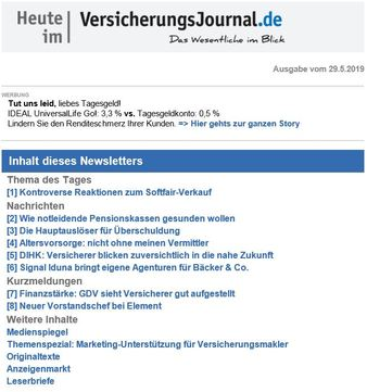 VersicherungsJournal Newsletter